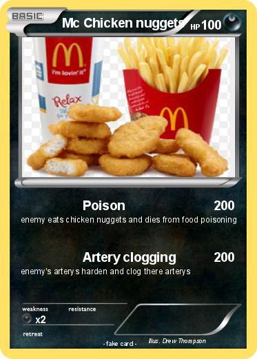 Pokmon Mc Chicken Nuggets Poison My Pokemon Card