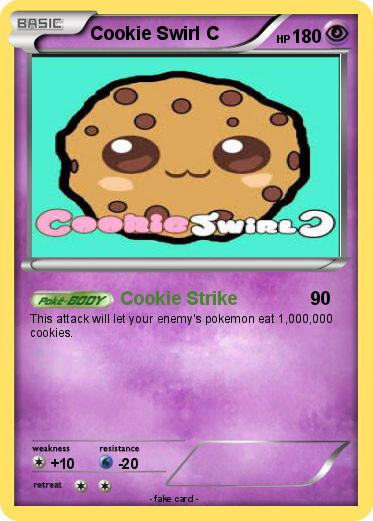 Pokemon Cookie Swirl C 1 Strike My Card Coloring Pages