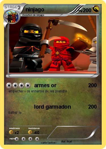 Pok mon ninjago 160 160 armes or ma carte pok mon - Carte ninjago ...