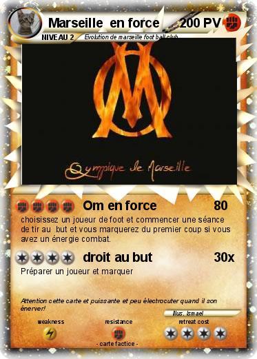 Coloriage Equipe De Foot Marseille.Pokemon Marseille En Force 3 3 Om En Force Ma Carte Pokemon