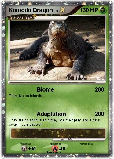 Pokémon Komodo Dragon 32 32 - Biome - My Pokemon Card