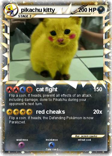 pokémon pikachu kitty 16 16 cat fight my pokemon card