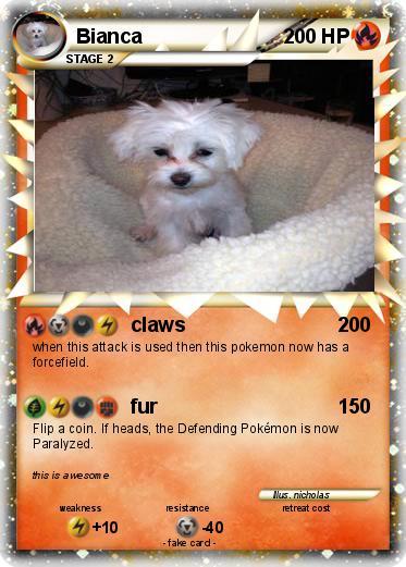 pok233mon bianca 46 46 claws my pokemon card
