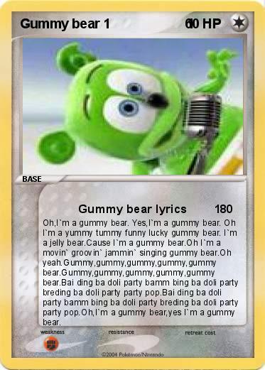 the gummy bear song full english version lyrics
