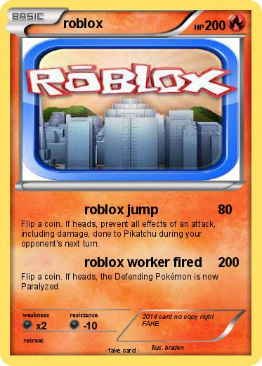 Pok 233 Mon Roblox 526 526 Roblox Jump My Pokemon Card