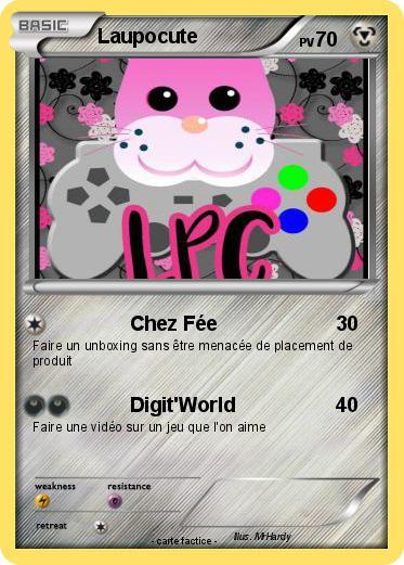 Pok mon laupocute chez f e ma carte pok mon - Carte pokemon fee ...