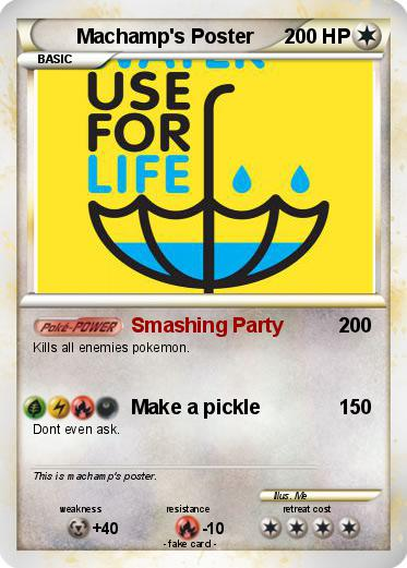 pokémon machamp s poster smashing party my pokemon card