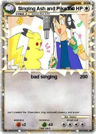 Pokemon singing ash and pikachu