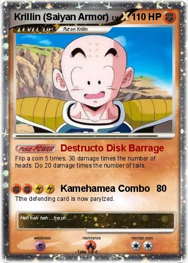 Pokémon Krillin Saiyan Armor Destructo Disk Barrage My Pokemon Card