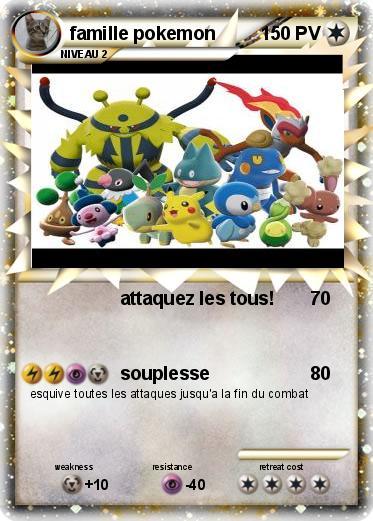 Pok mon famille pokemon attaquez les tous ma carte pok mon - Famille evoli pokemon ...