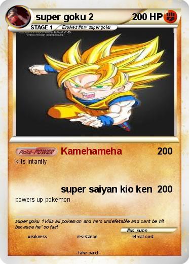 Pokémon super goku 85 85 - Kamehameha - My Pokemon Card