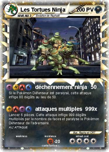 Pok mon les tortues ninja d chennement ninja ma carte pok mon - Le nom des tortue ninja ...