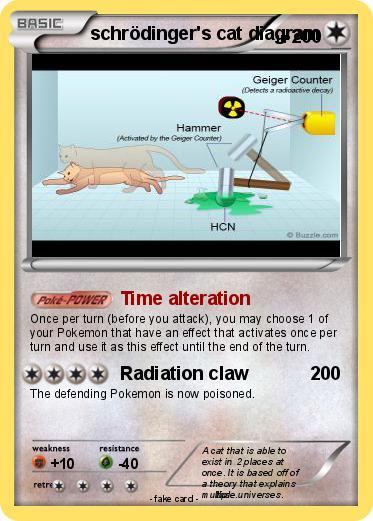 Pokémon schrodinger s cat diagram - Time alteration - My Pokemon Card