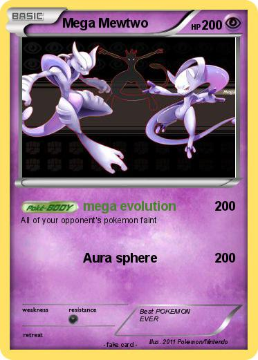 Pok mon mega mewtwo 490 490 mega evolution my pokemon card - Mewtwo y mega evolution ...