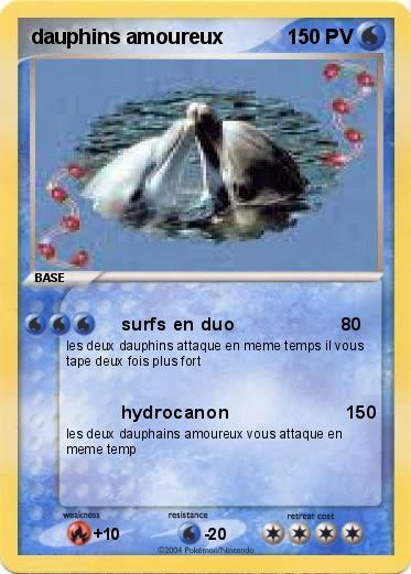 Coloriage De Dauphin Amoureux A Imprimer.Pokemon Dauphins Amoureux Surfs En Duo Ma Carte Pokemon