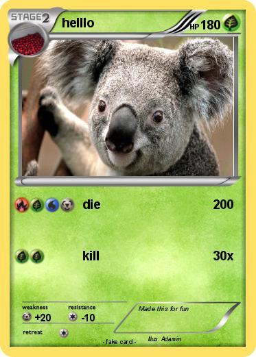 Pokémon helllo 1 1 - die - My Pokemon Card