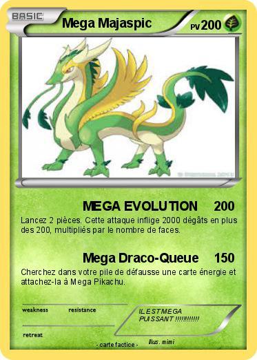 Pok mon mega majaspic 2 2 mega evolution ma carte pok mon - Evolution pokemon noir 2 ...