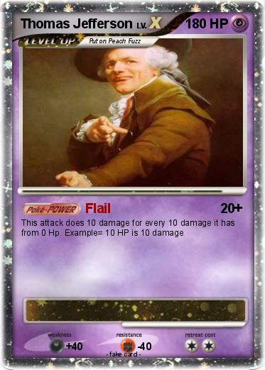 Pokémon Thomas Efferson Flail My Pokemon Card