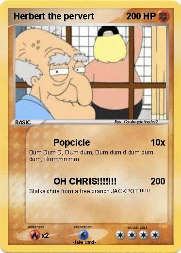 Pokémon Herbert The Pervert 31 31 Popcicle My Pokemon Card