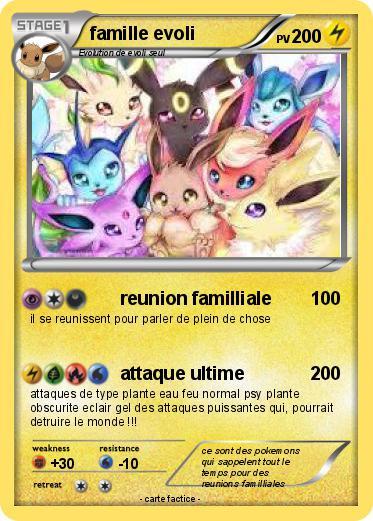 Pok mon famille evoli 50 50 reunion familliale ma carte pok mon - Famille evoli pokemon ...