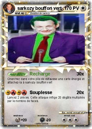 Pok mon sarkozy bouffon vert recharge ma carte pok mon - Bouffon vert coloriage ...