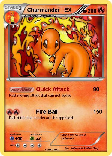 pok233mon charmander ex 22 22 quick attack my pokemon card