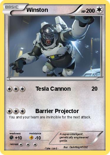 Pokémon Winston 75 75 - Tesla Cannon - My Pokemon Card