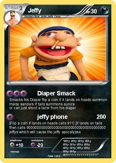Pokémon Jeffy 175 175 - Diaper Smack - My Pokemon Card