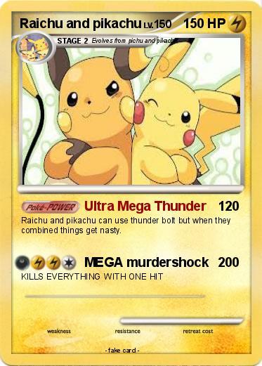 Pok mon raichu and pikachu 10 10 ultra mega thunder my - Pokemon x raichu mega evolution ...