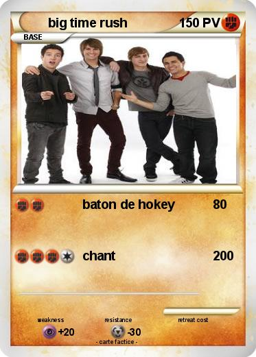 Pokemon Big Time Rush 96 96 Baton De Hokey Ma Carte Pokemon