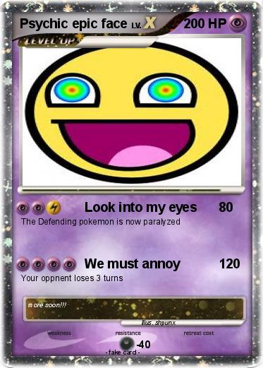 pok233mon psychic epic face 1 1 look into my eyes my