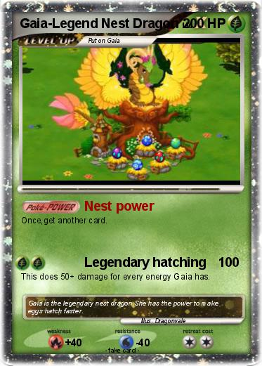 Pokémon Gaia Legend Nest Dragon - Nest power - My Pokemon Card