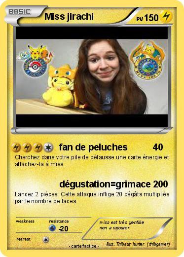 Pok mon miss jirachi 10 10 fan de peluches ma carte - Carte pokemon jirachi ...