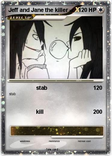 Pokemon Jeff And Jane The Killer