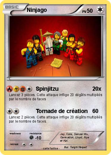Pok mon ninjago 202 202 spinjitzu ma carte pok mon - Carte ninjago ...
