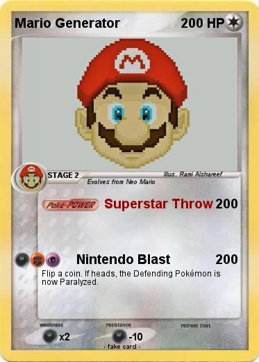 Pokémon Mario Generator - Superstar Throw - My Pokemon Card