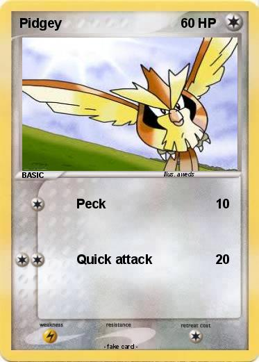 Pokémon Pidgey 75 75 - Peck - My Pokemon Card