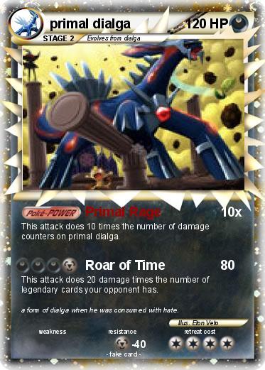 pokémon primal dialga 81 81 primal rage my pokemon card