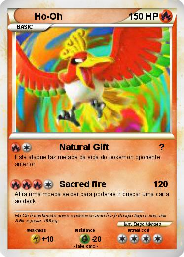 Pokémon Ho Oh 2426 2426 - Natural Gift ? - My Pokemon Card