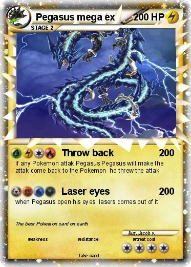 Pokémon Pegasus mega ex - Throw back - My Pokemon Card