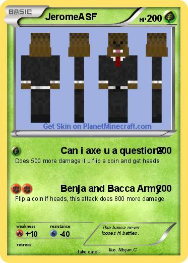 Pokémon Jeromeasf 26 26 Can I Axe U A Question My Pokemon Card