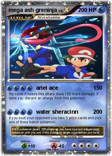 pokémon mega ash greninja 4 4 ariel ace my pokemon card