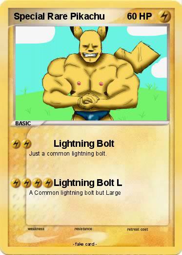 pokémon special rare pikachu lightning bolt my pokemon card