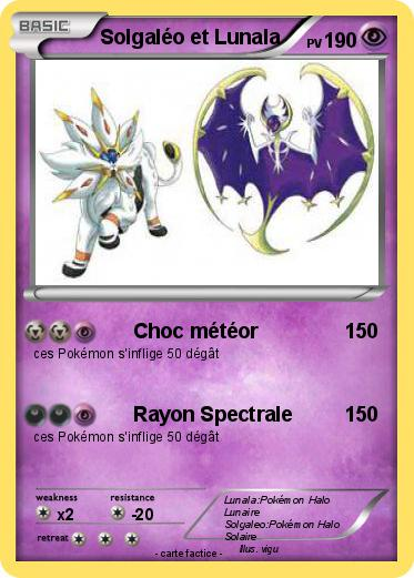 Pokémon Solgaleo Et Lunala Choc Météor Ma Carte Pokémon