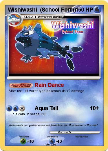 Pokémon Wishiwashi School Form 4 4 - Rain Dance - My Pokemon Card