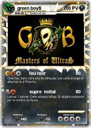 Pok mon green boys feu noir ma carte pok mon - Pierre feu pokemon noir ...