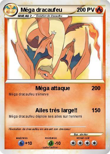Pok mon mega dracaufeu 2 2 m ga attaque ma carte pok mon - Evolution de dracaufeu ...