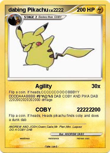 pokémon dabing pikachu 1 1 agility my pokemon card