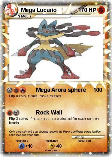 Pokémon Mega Lucario 44 44 - Mega Arora sphere - My ...
