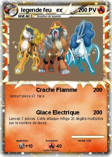 Pok mon legende feu ex crache flamme ma carte pok mon - Carte pokemon legendaire ex ...